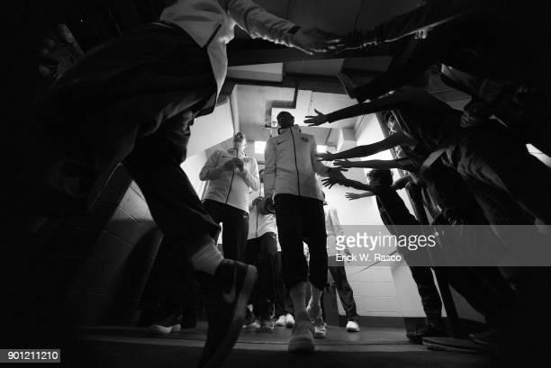 Denver Nuggets players in tunnel before game vs Brooklyn Nets at Barclays Center Brooklyn NY CREDIT Erick W Rasco