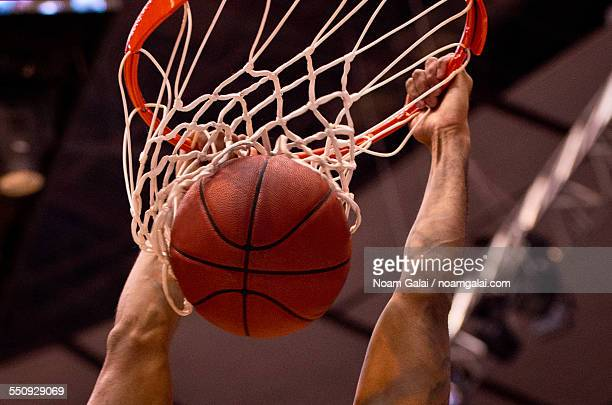 basketball dunk - shooting baskets stock photos and pictures