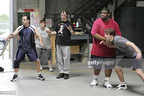 THE OFFICE Basketball Episode 5 Aired Pictured Steve Carell as Michael Scott Rainn Wilson as Dwight Schrute Patrice O'Neal as Lonny and John...