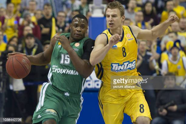Basketball Euroleague Top 16 ALBA Berlin Panathinaikos Athen in the O2 World in Berlin 16 January 2013 Marcus Banks from Panathinaikos Athen in a...