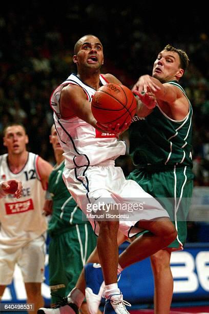 Basketball European Championship 2003 semi final France vs Lithuania Tony Parker and Sarunas Jasikevicius Basketball Championnat d Europe 2003 demi...