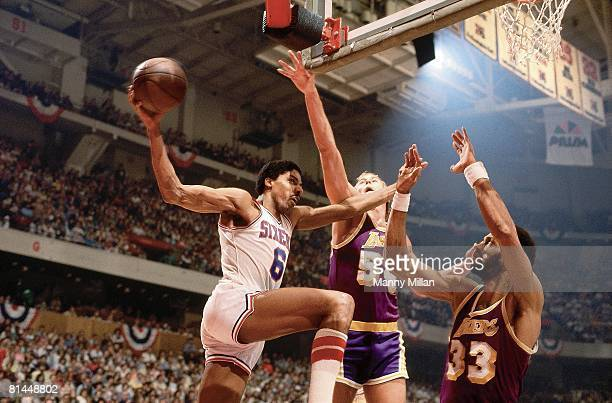 Basketball finals Philadelphia 76ers Julius Erving in action vs Los Angeles Lakers Philadelphia PA 5/11/1980
