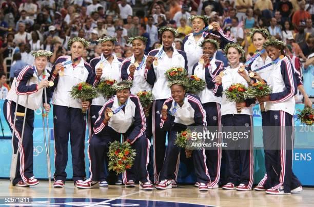 Basketball / Frauen Olympische Spiele Athen 2004 Athen Finale USA Australien Gold Team USA 280804