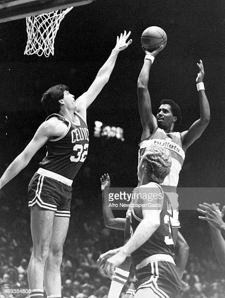 A basketball game between the Baltimore Bullets and the Boston Celtics 1970