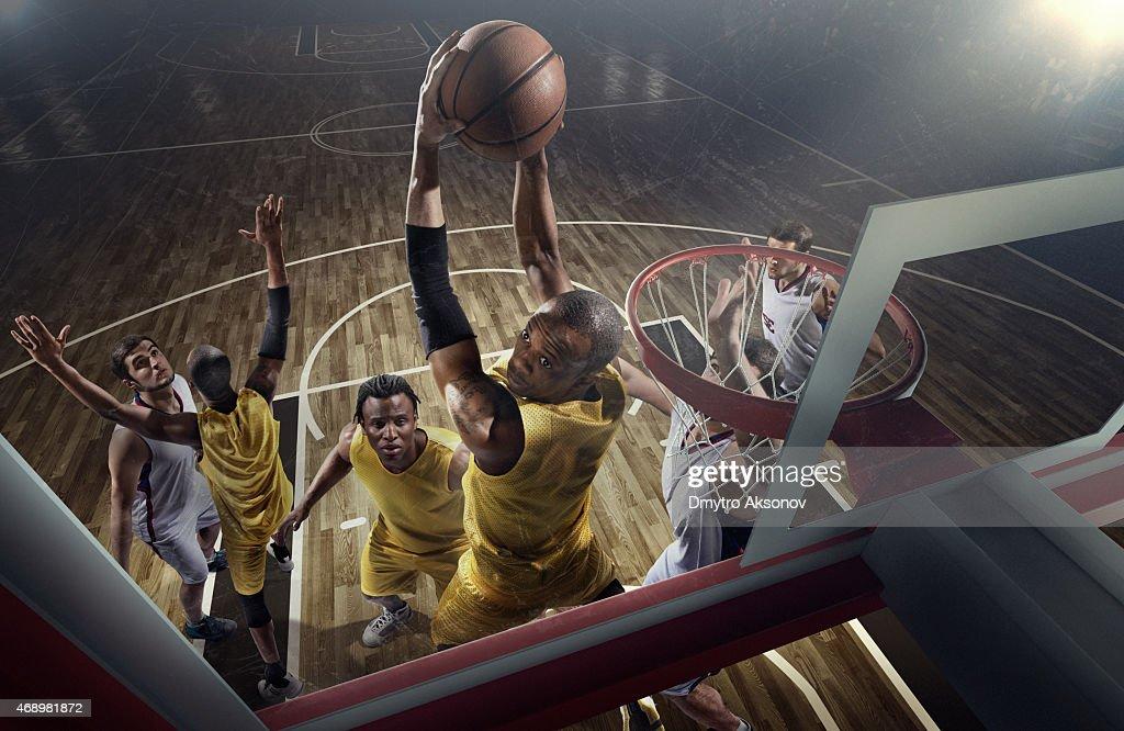 Basketball game moments : Stock Photo