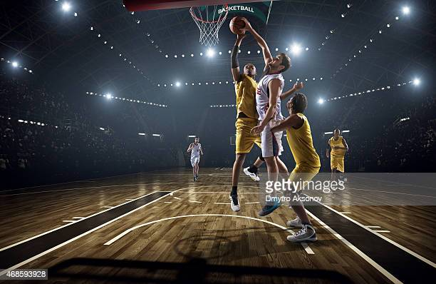 basketball game - shooting baskets stock photos and pictures