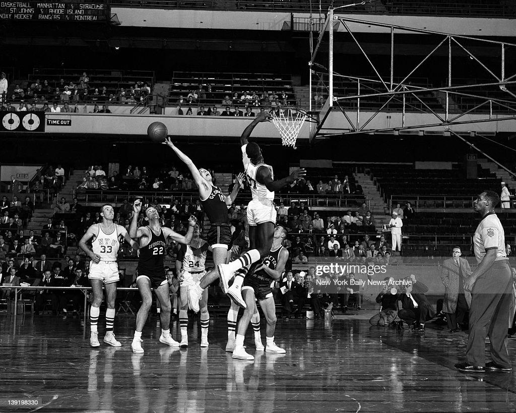Basketball Georgetown vs NYU : News Photo