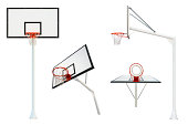 Basketball goal isolated from different views