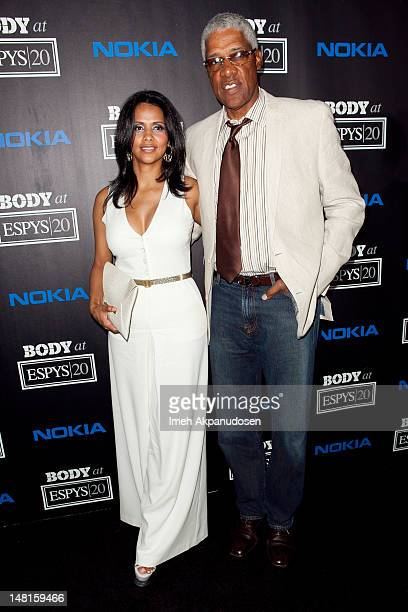 Basketball great Julius Erving aka Dr J and wife Dorys Madden attend ESPN Magazine's 4th Annual Body Issue celebration at Belasco Theatre on July 10...
