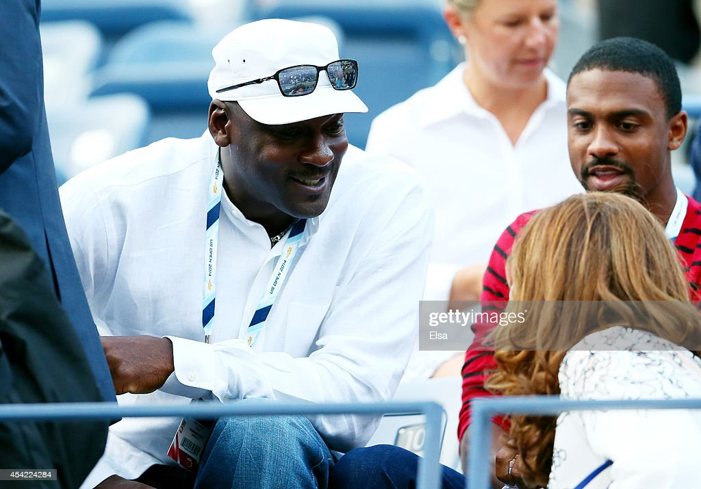 Basketball Hall of Famer Michael Jordan attends Day Two of the 2014 US Open at the USTA Billie Jean King National Tennis Center on August 26, 2014 in the Flushing neighborhood of the Queens borough of New York City.