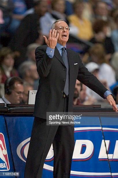 NBA Basketball Houston Rockets against Detroit Pistons head coach Larry Brown on Nov 2 2004 in Auburn Hills Mich Detroit won the game 8779