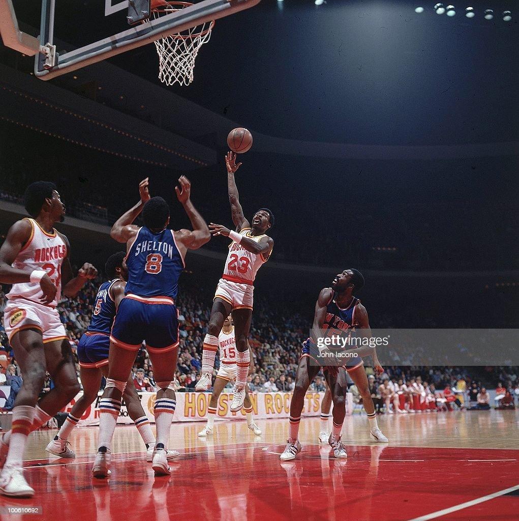 Houston Rockets Calvin Murphy (23) in action, shot vs New York Knicks. Houston, TX 1/5/1977