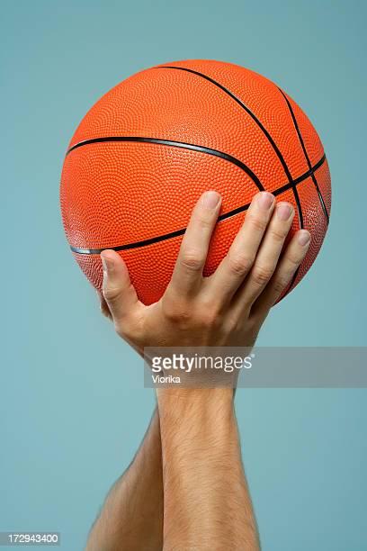 Basketball in hands