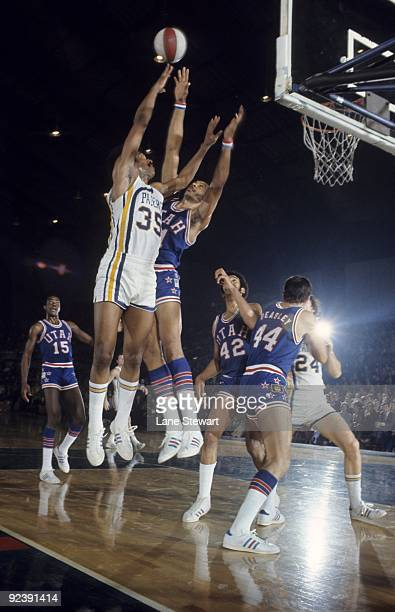 Indiana Pacers Roger Brown in action shot vs Utah Stars Indianapolis IN 1/22/1972 CREDIT Lane Stewart