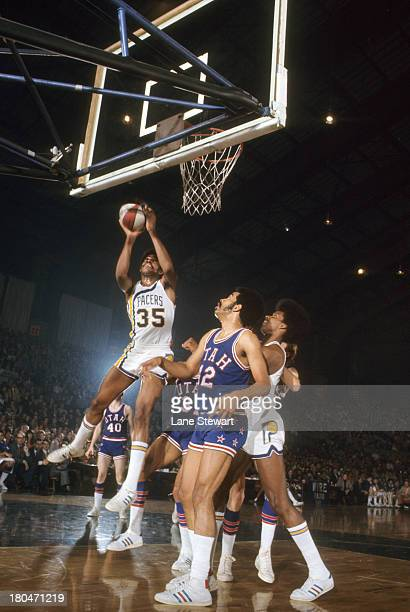 Indiana Pacers Roger Brown in action vs Utah Stars at Indiana State Fairgrounds Coliseum Indianapolis IN CREDIT Lane Stewart