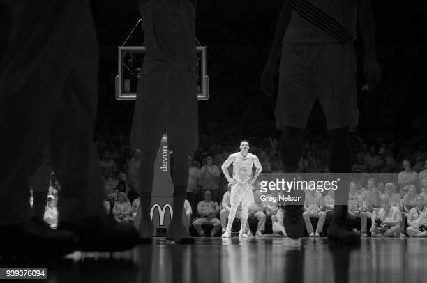 Infrared view of Oklahoma City Thunder Russell Westbrook during game vs Portland Trail Blazers at Chesapeake Energy Arena Oklahoma City OK CREDIT...