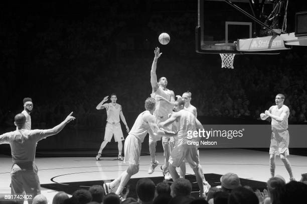 Infrared view of San Antonio Spurs LaMarcus Aldridge in action vs Boston Celtics at ATT Center San Antonio TX CREDIT Greg Nelson
