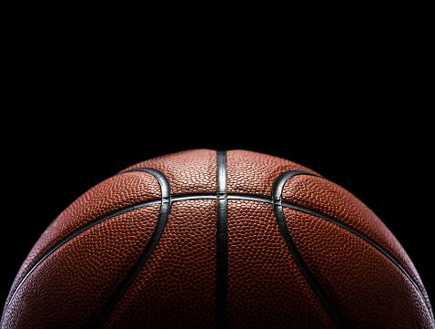 basketball isolated on black 615429908