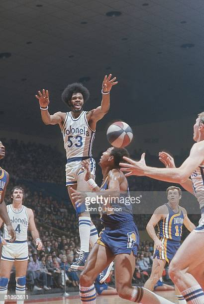 Kentucky Colonels Artis Gilmore in action making pass vs Indiana Pacers Louisville KY