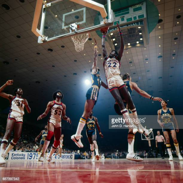 Kentucky Colonels Wil Jones in action vs Golden State Warriors at Freedom Hall Louisville KY CREDIT John D Hanlon