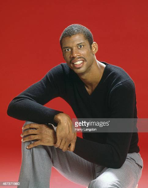 Basketball legend Kareem AbdulJabbar poses for a portrait in 1985 in Los Angeles California
