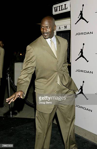 """Basketball legend Michael Jordan arrives for """"Comedy Court"""" comedy show presented by Michael Jordan on February 13, 2004 at the Wadsworth Theatre in..."""