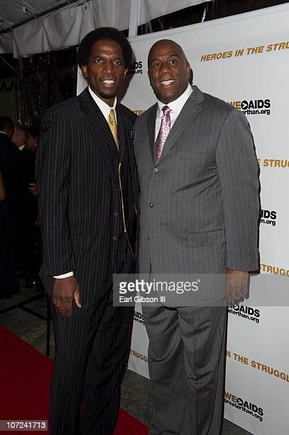 Basketball Legends AC Green and Magic Johnson attend the 10th Annual Heroes In The Struggle Gala Concert on December 1 2010 in Hollywood California