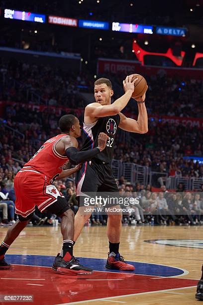 Los Angeles Clippers Blake Griffin in action vs Chicago Bulls at Staples Center Los Angeles CA CREDIT John W McDonough