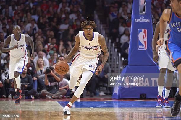 Los Angeles Clippers Chris DouglasRoberts in action vs Oklahoma City Thunder at Staples Center Los Angeles CA CREDIT John W McDonough