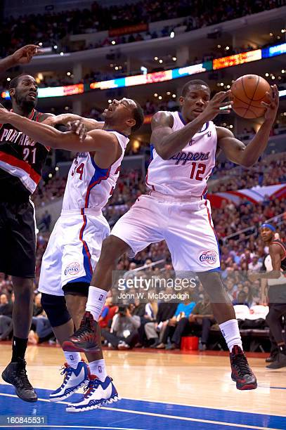Los Angeles Clippers Eric Bledsoe in action, rebound vs Portland Trail Blazers at Staples Center. Los Angeles, CA 2/4/2013 CREDIT: John W. McDonough
