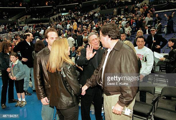 Los Angeles Clippers owner Donald Sterling avoiding a phototgrapher attempting to take his photo after game vs Atlanta Hawks at Staples Center Los...