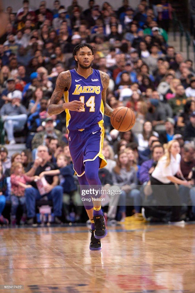Los Angeles Lakers Brandon Ingram (14) in action vs Dallas Mavericks at American Airlines Center. Greg Nelson TK1 )