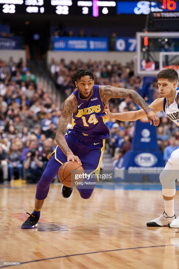 Los Angeles Lakers Brandon Ingram (14) in action vs Dallas Mavericks at American Airlines Center. Greg Nelson TK1 )