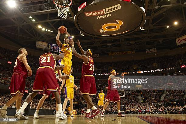Los Angeles Lakers Kobe Bryant in action vs Cleveland Cavaliers. Cleveland, OH 1/21/2010 CREDIT: John Biever