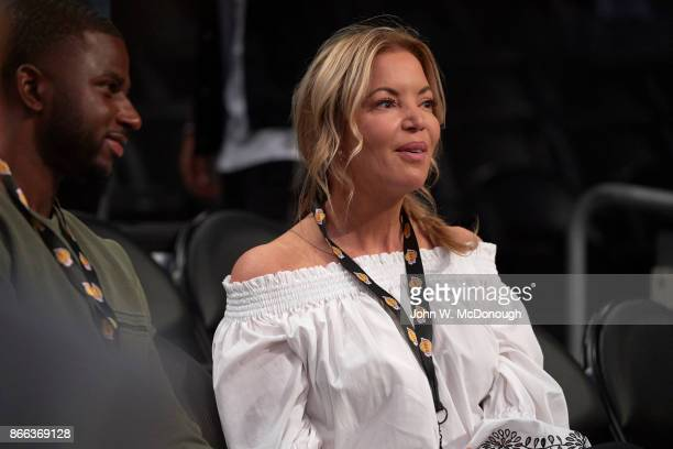 Los Angeles Lakers owner and president Jeanie Buss before game vs Los Angeles Clippers at Staples Center Los Angeles CA CREDIT John W McDonough