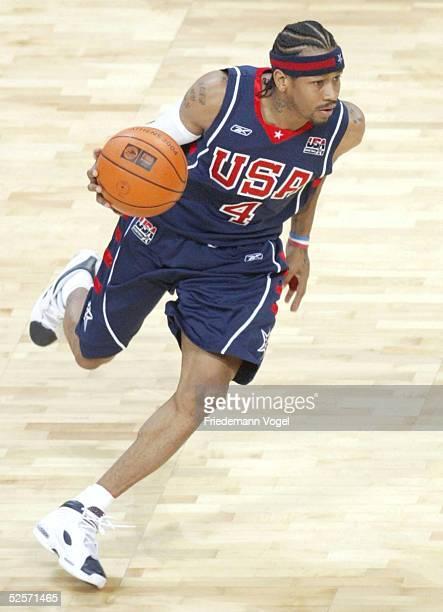 Basketball / Maenner Olympische Spiele Athen 2004 Athen Spanien USA 94102 Allen IVERSON / USA 260804
