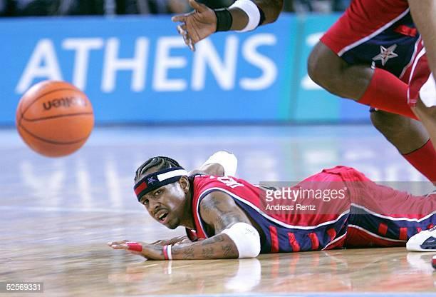 Basketball / Maenner Olympische Spiele Athen 2004 Athen USA Puerto RICO 7392 Allen IVERSON / USA