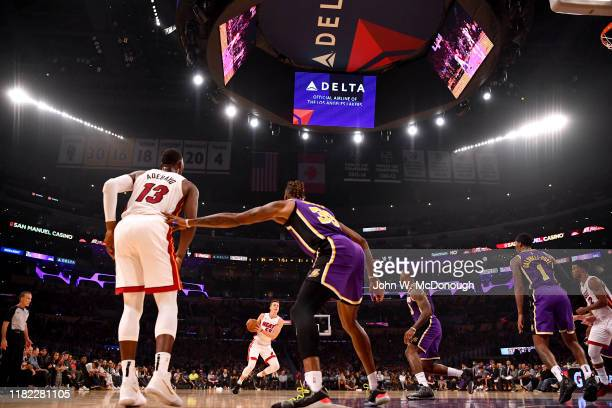 Miami Heat Duncan Robinson in action vs Los Angeles Lakers at Staples Center Los Angeles CA CREDIT John W McDonough