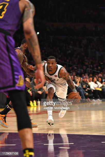 Milwaukee Bucks Eric Bledsoe in action vs Los Angeles Lakers at Staples Center. Los Angeles, CA 3/1/2019 CREDIT: John W. McDonough