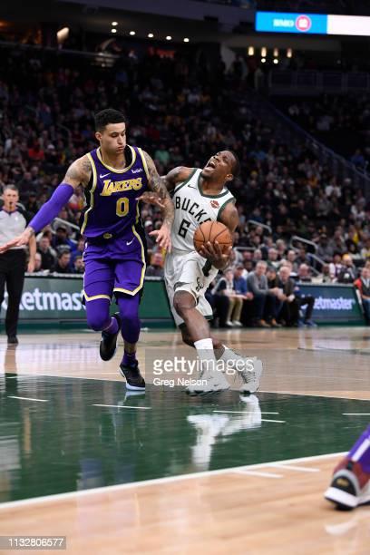Milwaukee Bucks Eric Bledsoe in action vs Los Angeles Lakers Kyle Kuzma at Fiserv Forum. Milwaukee, WI 3/19/2019 CREDIT: Greg Nelson