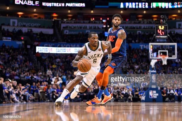 Milwaukee Bucks Eric Bledsoe in action vs Oklahoma City Thunder at Chesapeake Energy Arena. Oklahoma City, OK 1/27/2019 CREDIT: Greg Nelson