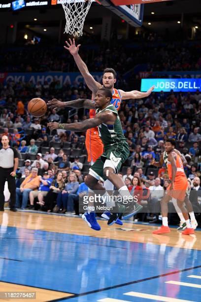 Milwaukee Bucks Eric Bledsoe in action vs Oklahoma City Thunder at Chesapeake Energy Arena. Oklahoma City, OK CREDIT: Greg Nelson