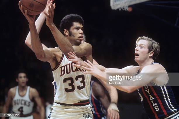 Milwaukee Bucks Lew Alcindor in action vs Cincinnati Royals Greg Hyder at  Milwaukee Arena Milwaukee WI b36dbe691