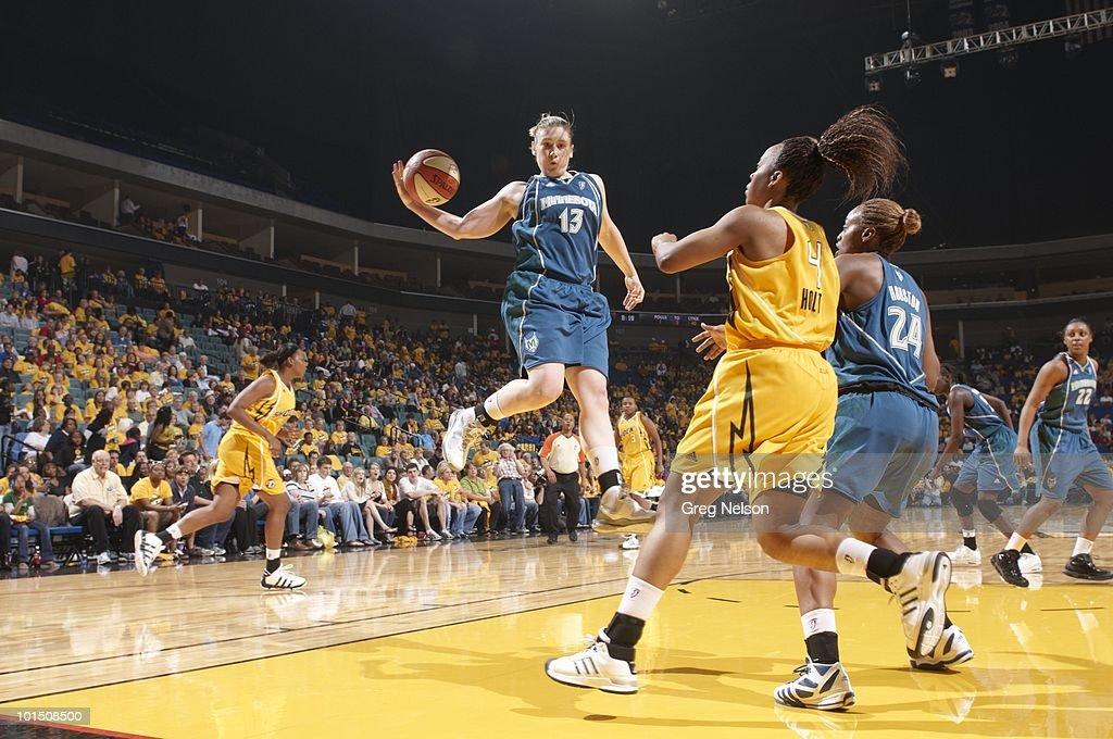 Minnesota Lynx Lindsay Whalen (13) in action vs Tulsa Shock. Tulsa, OK 5/15/2010