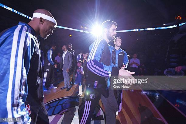 Minnesota Timberwolves Kevin Love during introductions before game vs Brooklyn Nets at Target Center Minneapolis MN CREDIT Greg Nelson