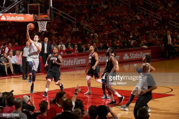 Minnesota Timberwolves Nemanja Bjelica in action vs Houston Rockets at Toyota Center Game 2 Houston TX CREDIT Greg Nelson