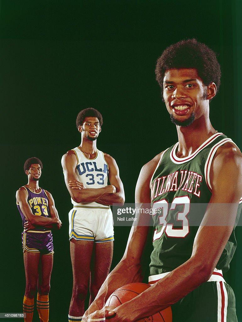 Milwaukee Bucks Lew Alcindor. Basketball  Multiple exposure portrait ... d9d5729f9