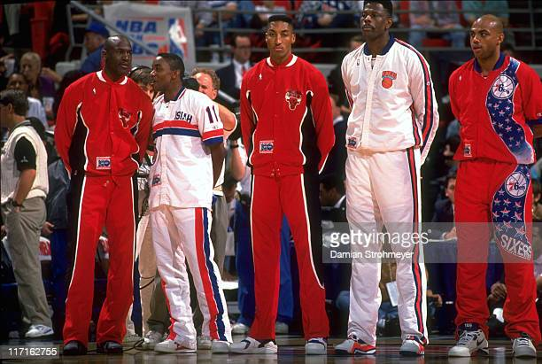 NBA All Star Game Chicago Bulls Michael Jordan Detroit Pistons Isiah Thomas Chicago Bulls Scottie Pippen New York Knicks Patrick Ewing and...