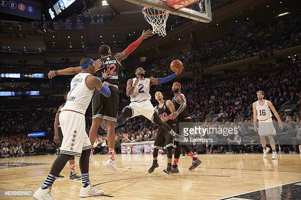 NBA All Star Game Team East Kyrie Irving in action vs Team West at Madison Square Garden New York NY CREDIT Al Tielemans