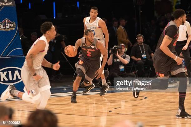 NBA All Star Game Team West Kawhi Leonard in action vs Team East at Smoothie King Center New Orleans LA CREDIT Michael J LeBrecht II